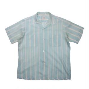 """""""VEN HEUSEN"""" Dacron Striped S/S Shirts"""