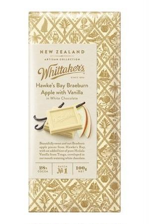 Whittaker's アップル&バニラ ホワイトチョコレート