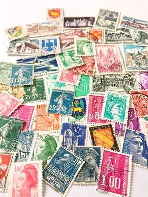 フランスの使用済み切手50枚セット A