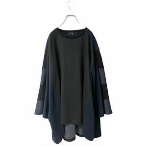 Wide-T-shirts (black/navy)
