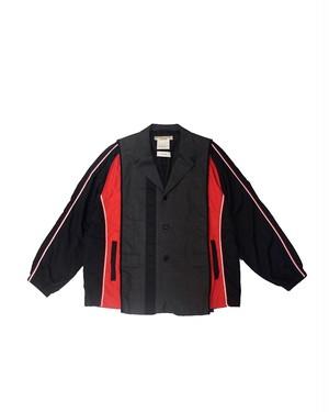 remake nylon docking jacket② (red×black)