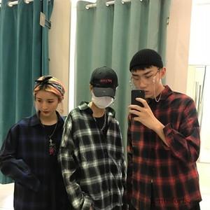 【トップス】チェック柄POLOネックシャツ20480902