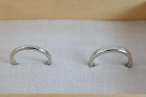 結婚指輪 Pt950 / 角 / 鏡面仕上げ