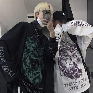 【トップス】長袖男女兼用カートゥーンファッションストリートTシャツ34311020