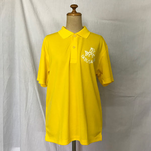 YABUSAME象形ロゴ 半袖ポロシャツ(イエロー)