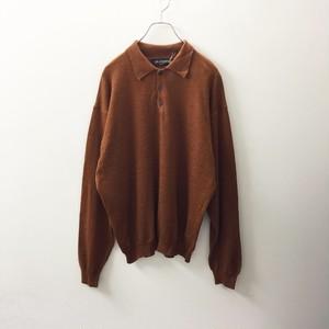 BRANDINI ウール ニット ポロシャツ イタリア製 size L メンズ 古着