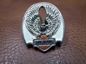 VTG Harley-Davidson LIVE TO RIDE イーグル&バー&シールド ピンバッチ⑫