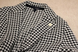 LARDINI Houndstooth Knit Jacket