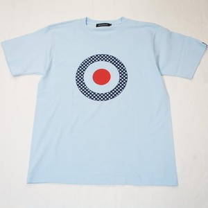 CHECKER TARGET T-SHIRT  Light Blue