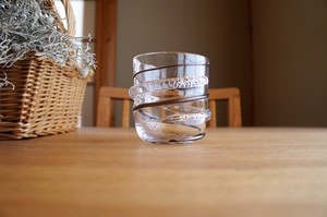 ガラス/銀の糸マーブルグラス(珈琲色)/空西あかね