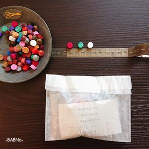 シーリングワックス32g/100粒+スタンプ(No.37Z+)