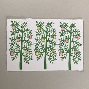 postcard (peach tree)