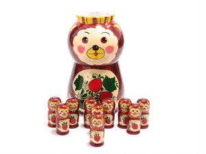Semenov Bear with Strawberry 10 piece [ANILIN]
