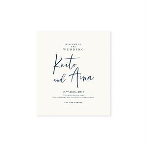 巻き三つ折り席次表[Wedding Vows]正方形(10部 ¥11,000〜) | 結婚式・ウェディングペーパーアイテム・海外風・カリグラフィー