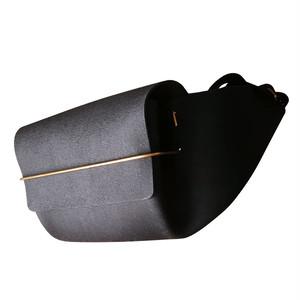 envelope. Leather waist bag [Black]