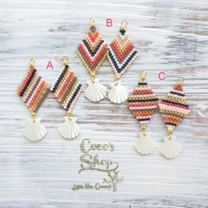 ◆SALE ¥300 OFF◆ Rhombus Oriental Pierce/Earrings Ⅰ