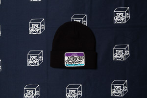 HELLO BLACK X PURPLE X BLUE KNIT CAP