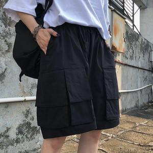 ゴスロリ系 ハーフパンツ ショートパンツ サイドポケット セパレートポケット ユニセックス 病み可愛い ストリート系 原宿系 オルチャン 10代 20代