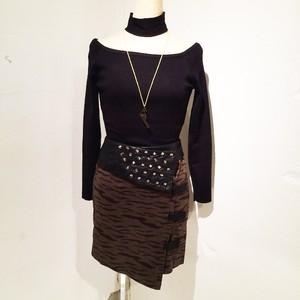 Zebra Studs Skirt / Khaki
