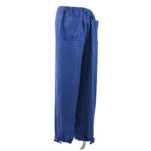 麻作務衣 草木染 ズボン ヘンプ100%