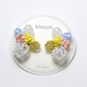 kincot メッシュデザインピアス(ホワイト)