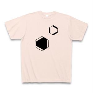 理系Tシャツ【ベンゼン環/2つ/ライトピンク】-(Scien-T'st)Benzen/two/Light Pink