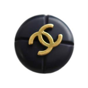 【VINTAGE CHANEL BUTTON】ココマーク ゴールド ネイビー ボタン 2.0mm
