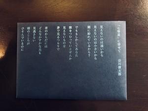 poegirl/ポエムカード 谷川俊太郎 七等星 刺繍の詩集