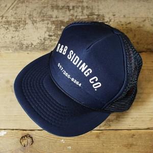 USA メッシュキャップ 帽子 R&B SIDING CO プリント ネイビー 紺 フリーサイズ NISSIN 古着 051320ss153