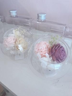 お花畑のグラスラウンドドーム
