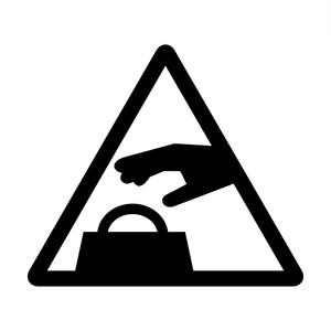 置引き注意標識のカッティングステッカーシール