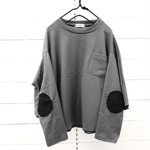 PONCH L/S TEE -BEAR MT ELBOW PATCH / LL