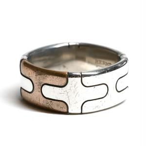 Hermès Vintage Sterling Silver & Bronze Ring