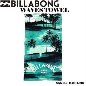 BA011-916 ビラボン 人気ブランド メンズ ビーチタオル 海 プール レジャー おしゃれ ハワイアン BILLABONG WAVES TOWEL