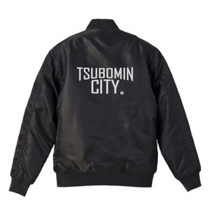 TSUBOMIN / TSUBOMIN CITY MA-1 JACKET BLACK x SILVER