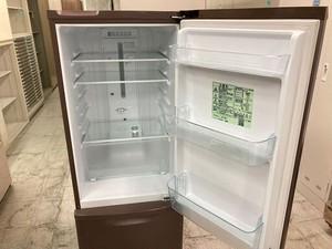 中古 良品 パナソニック 2ドア冷蔵庫 168L ブラウン 右開き 2017年製