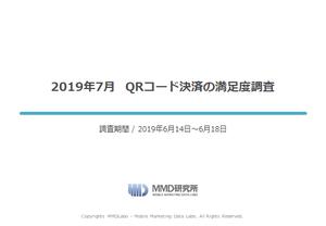2019年7月 QRコード決済の満足度調査