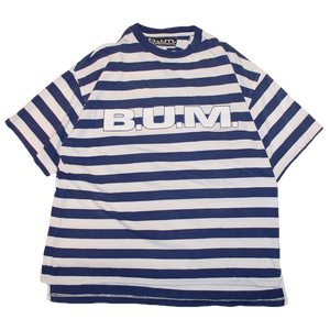 """90s B.U.M. equipment"" Vintage Stripe T Shirt Used"