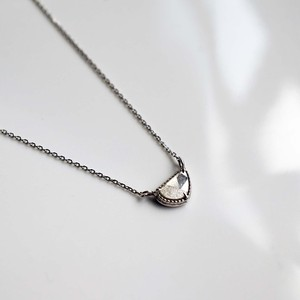 Sliced Diamond Necklace / White Gold(N102-WD)