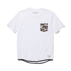 LAYRED CAMO PRINTED POCKET T-SHIRT -WHITE