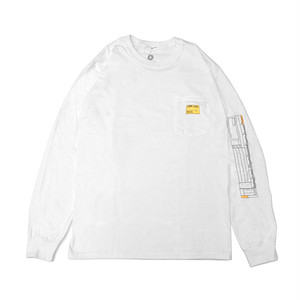 PARK DELI - CHECK LIST LONG SLEEVE TEE (White)