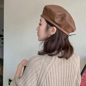 エコレザーベレー帽ML682
