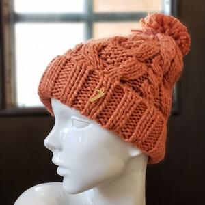 ナンバーニット帽(オレンジ)