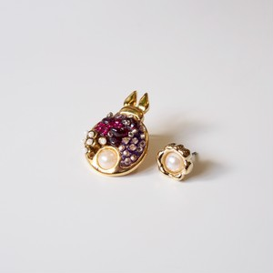 "bunny & flower pierce ""Selina"""