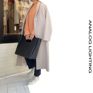 STAND NECK KNIT/SALMON