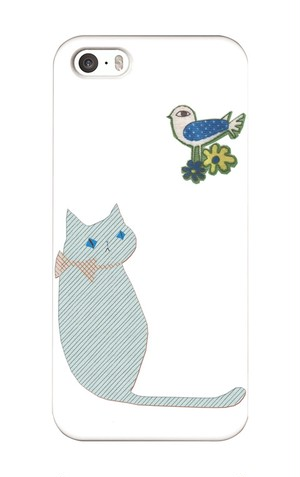 smartphone_cover_ZOOcollection Cat with Bird(にゃんことトット)