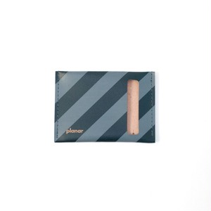planar Card Case S -Grey and Black Stripes-
