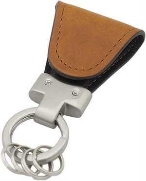 [Vintage Revival Productions] Key Clip oil leather イタリアンオイルレザー キークリップ ブラウン