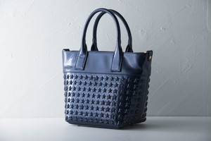 confuse(コンフューズ)BAG Enamel navy×NavyStarstuds(small)