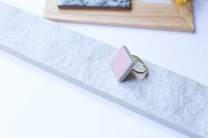 326伝統文化品美濃焼多治見タイル指輪・リング(フリーサイズ)